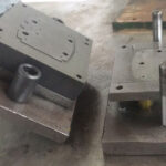 In-mold rotary cutting process for changing continuous drawing die